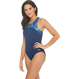 Zoggs Spiro Zippedback Swimsuit Dame navy/multi
